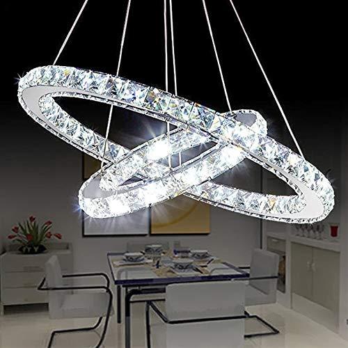 LIUYU 30/40/50 CM LED Luces Pendientes cristalina Moderna de la lámpara del LED for el Cristal de la Sala del Restaurante de la lámpara LED de la lámpara Colgante