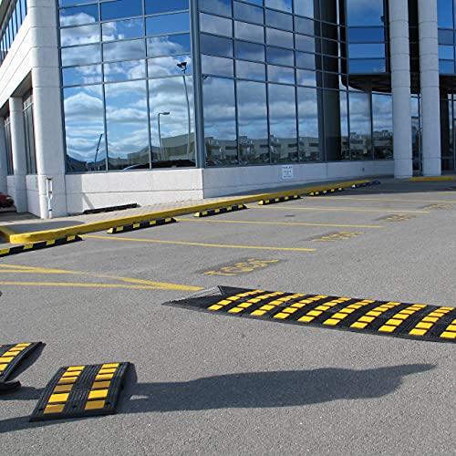 Checkers Safety Rider - Tapa de seguridad para minihumps (90 x 50 cm), color negro y amarillo