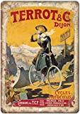 Terrot & Dijon Motorräder Fahrrad Blechschild Vintage