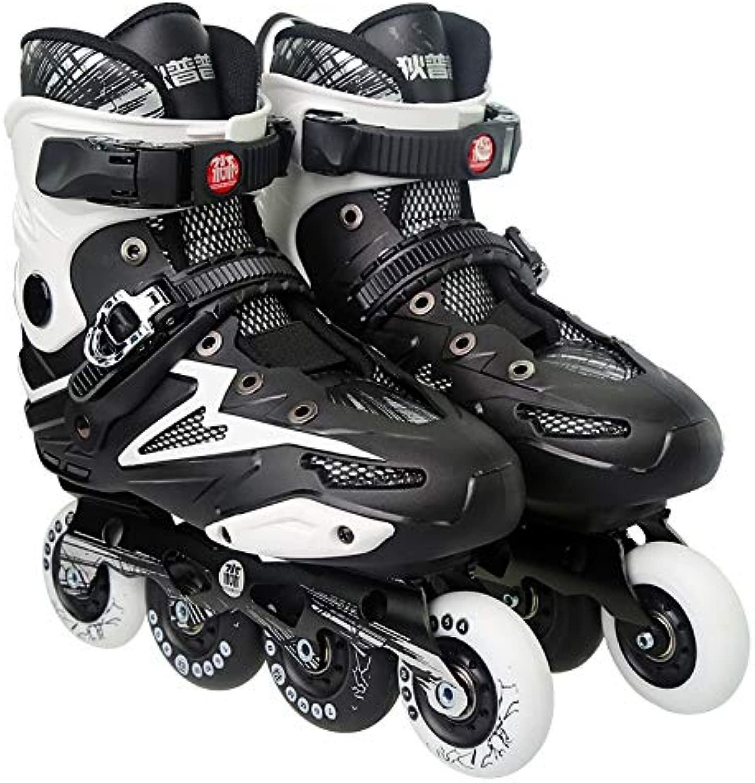 WTYD アウトドアスポーツ用品 Dile Bear F35アダルトシングルロー四輪ローラースケートスケートシューズ、サイズ:44(ブラック) アウトドアライフのために