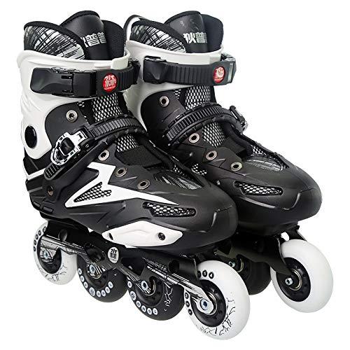 Wakaa Dile Bear F35 Erwachsene Einreihige Allrad-Rollschuhe Skating-Schuhe Rollschuhe Skating-Schuhe Heelys-Schuhe, Größe: 44 (Schwarz) (Farbe : Black)