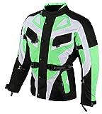 Ledershop-online Bangla Motorradjacke Touren Motorrad Jacke Textil Schwarz Gruen 1535 4XL