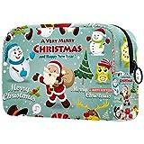 Borsa cosmetica per le donne, design poster di Natale, borse di trucco, accessori organizzatore regali