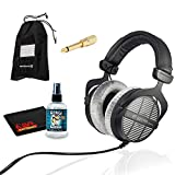Beyerdynamic DT 990 Pro Studio Headphones for Mixing and Mastering with 6Ave Headphone Cleaning Kit and Protection Plan