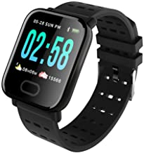 A6 Men Smartwatch Android iOS Bluetooth Smart Sports Waterproof Heart Rate Monitor Long Standby Pedometer Sleep Tracker Sedentary Reminder Chronograph Calendar, Proximity Sensor, Heart Rate Sensor