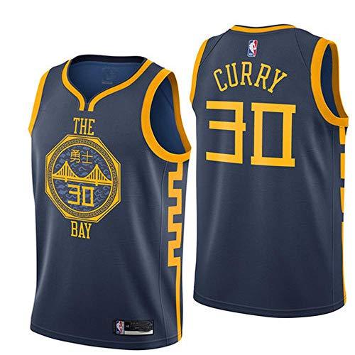 NBA Basketball Clothes Golden State Warriors Curry #30 Warriors Durant 35 Ricamo Traspirante e Resistente all'Usura Sport Tuta La Maglia da Basket