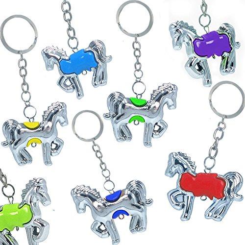 German Trendseller® - 12 x Zauberhafte Pferde - Schmuck Anhänger ┃ Mädchen ┃ Mitgebsel ┃ Kindergeburtstag ┃ Silberne Pferde ┃ 12 Stück