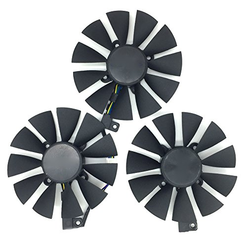 PLD09210S12HH - Tarjeta de vídeo para ASUS STRIX Raptor GTX 980Ti R9 390X R9 390 GTX 1060 GTX 1070 GTX 1080 RX480 88 mm 6 pines enfriador de tarjetas gráficas