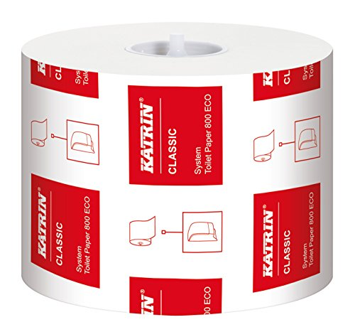 Katrin 103424 Classic System Toilet ECO paper, 100% recycled fibre (Pack of 36)
