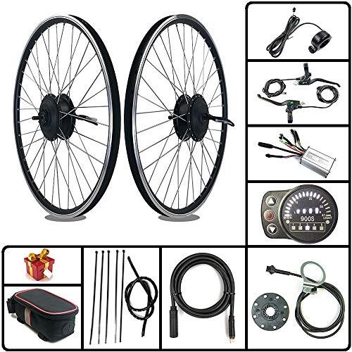 Kit de bicicleta eléctrica RICETOO 36V / 48V 250W Rueda de radios delanteros Motor de cubo de engranaje sin escobillas 16