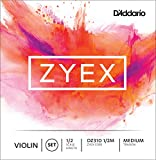 D'Addario Bowed Jeu de cordes pour violon D'Addario Zyex, manche 1/2, tension Medium