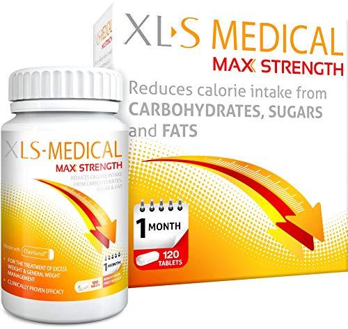 XLS Medical Max Fuerza Pastillas Para Adelgazar para perder peso - Pack de 120...