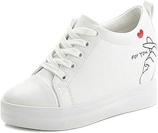 67c35eaedb3972 SOIXANTE Chaussure Femme Baskets Tennis Talon Compensé 7 CM Sneaker Lacet
