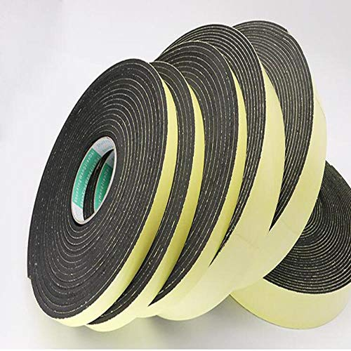 Tings Sterke hechting    zwarte spons schuimrubberen   tape   anti-collision seal strip 1 2 3 mm dik, dikte 1 mm -10 m, 30 mm