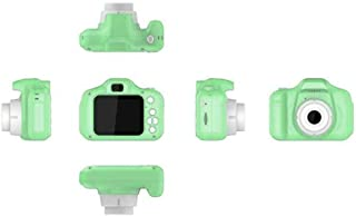 Leoie 2 Inch HD Screen Chargable Digital Mini Camera Kids Cartoon Cute Camera Toys Outdoor Photography Props for Child Green