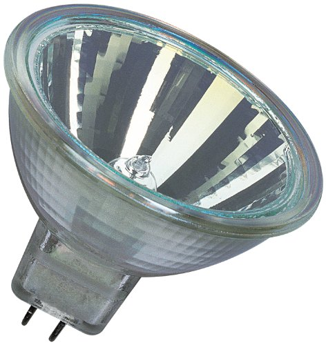 Osram Decostar 44865WFL - 10 bombillas halógenas (51 s, 12 V, 35 W, casquillo GU 5,3, reflector de espejo con luz fría y cubierta protectora, diámetro 51 mm)