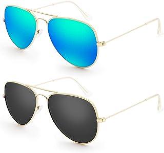 Livhò Sunglasses for Men Women Aviator Polarized Metal...