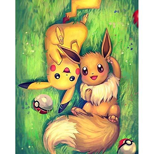 5D Diy Diamond Painting Cartoon Pokemon Full Square Diamond Embroidery Of Rhinestones Home DecorMosaic