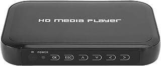 ASHATA Reproductor Multimedia HDMI, 1080P HD Mini Reproductor Multimedia HDMI Reproductor Multimedia HDMI portátil con Control Remoto, Soporte para Tarjeta SD/MMC, Disco U, Disco Duro móvil EU