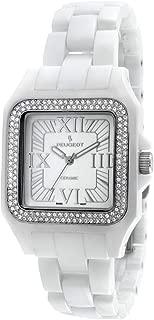 Swiss Women Genuine Ceramic Watch with Swarovski Crystal Bezel