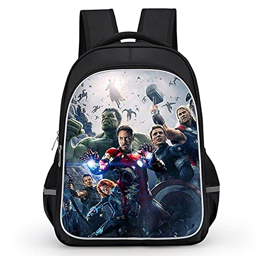 PRETAY Mochila para Niños Avengers Marvel Comics Kids Avengers Bolsa– Bolsa Escolar para niños (Color : A, Size : L(39CM))