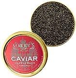 Marky s Hackleback Caviar Black American Sturgeon - 4 oz