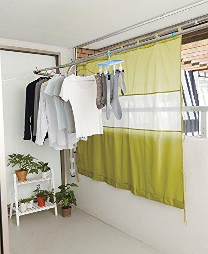 アイメディア風を通す雨よけベランダカーテン(A02)グリーン幅約190cm×高さ約150cm1007478