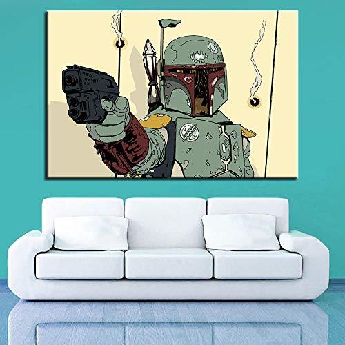 wZUN Sala de Estar hogar Pintura de Pared Lienzo Pintura Planeta Guerrero Imagen Cartel de película 60x90cm Sin Marco