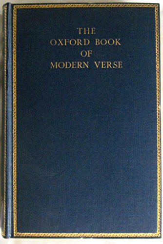 Oxford Book of Modern Verse, 1892-1935