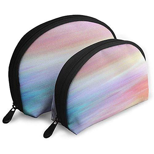 Abstrakte Aquarell Design tragbare Taschen Make-up Tasche Kulturbeutel, tragbare Multifunktions-Reisetaschen kleine Make-up Clutch Tasche mit Reißverschluss