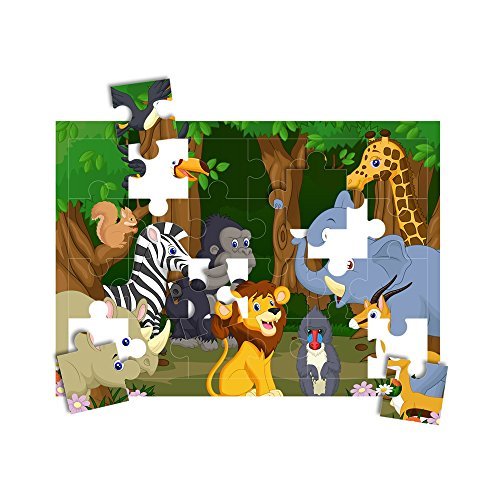HamiltonBuhl PZZL-2425 Pre-Perforated Printable Jigsaw Puzzle Paper, 24-Pieces per Sheet, 25