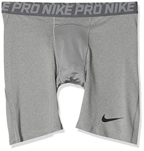 Nike Herren Pro Trainingsshorts, Grau (Carbon Heather/Dark Grey/Black), 2XL