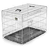 zoomundo L Cage Pliante en Métal avec 2 Portes pour Chien Cage Box de Transport Animaux Chiots Pliable