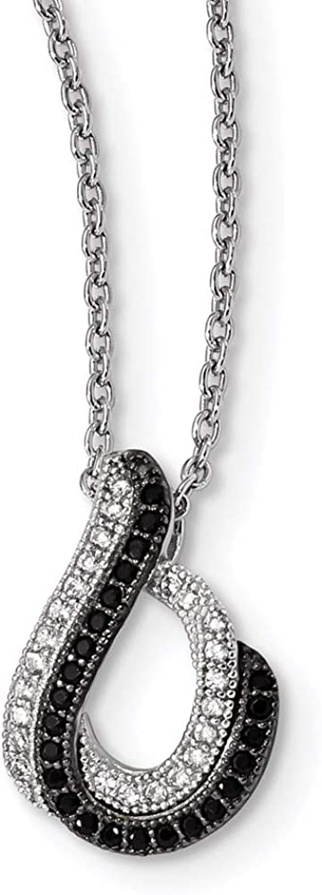 Very popular Chain Necklace White Sterling Silver with Zi Cubic pendant Save money Cable