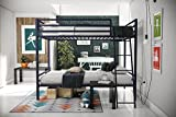 Novogratz Maxwell Twin/Twin Metal Bunk Bed, Sturdy Metal Frame with...