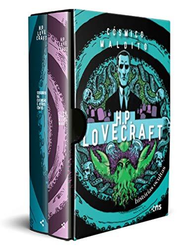 Box Cósmico maldito: Histórias ocultas de H.P. Lovecraft: (pôster + marcador + suplemento + 2 cartões-postais)