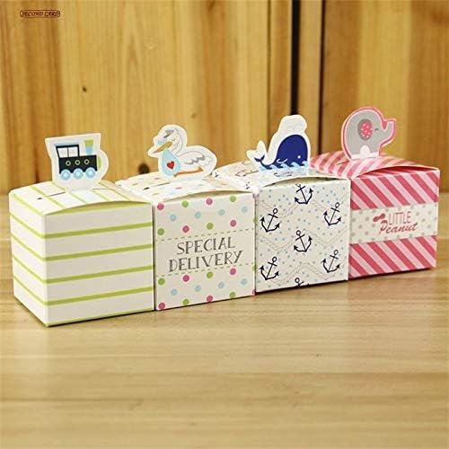 diseñador en linea Tyro - Caja de de de Caramelos con 4 Aniñales para Fiesta de cumpleaños, Suministros para Fiestas de Eventos, 50 Uniñades  wholesape barato