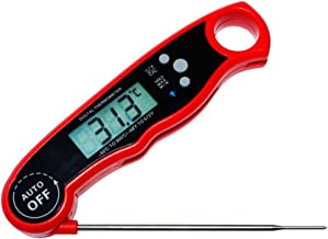 Instant Read Digital Food Thermometer with Large Back-lit LCD