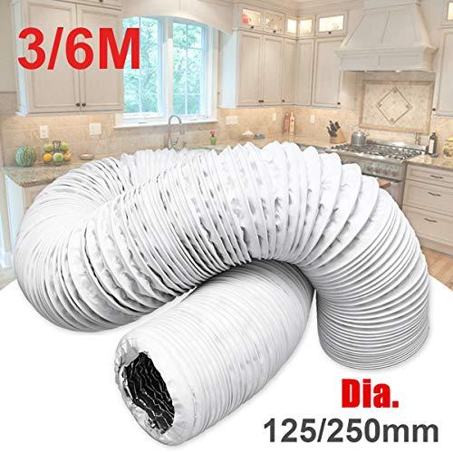 ConPush Abluftschlauch Schlauch PVC Flexibel für Mobil Klimaanlagen Klimagerät (150MM 6M)