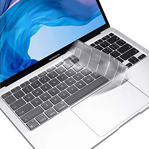 ProElife Ultra Thin Keyboard Cover Skin for Newest MacBook Air 13.3' 13 inch 2020 with Apple Silicon M1 Processor / Touch ID Accessories (Transparent)
