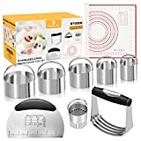 SYOSIN Pastry Cutter Set,5 Pack of Pastry Cutter,Biscuit Cutters set,Dough Scraper and Silicone...