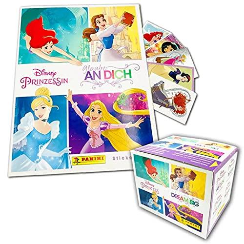 Panini Disney Prinzessin Sticker - Glaube an Dich - Box-Bundle mit Prinzessinnen Stickeralbum und 204 Stickern zum Einkleben, Sammeln und Tauschen