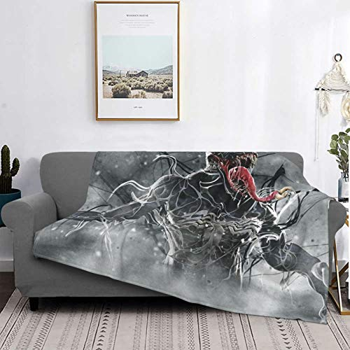 Gua Tan Ve-Nom Mantas de felpa, ultra suave, mantas de forro polar para sofá cama y sala de estar 132 x 102 cm