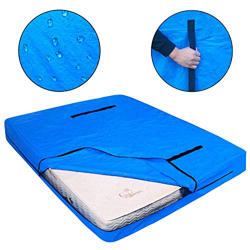 LLYWCM Reusable Mattress Bags for Moving - Extra Thick Mattress Protection Cover with Heavy Duty Handles and Strong Zipper - King, Queen, Full, Twin Size Mattress Protector for Storage (Full)