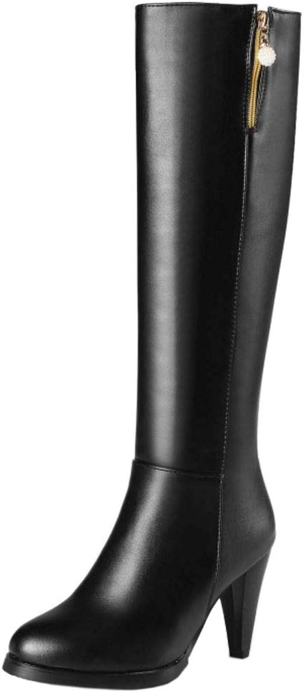 79364dfbeae50 AicciAizzi Women Fashion Cone Cone Cone Heel Long Boots Zip 7763bc ...