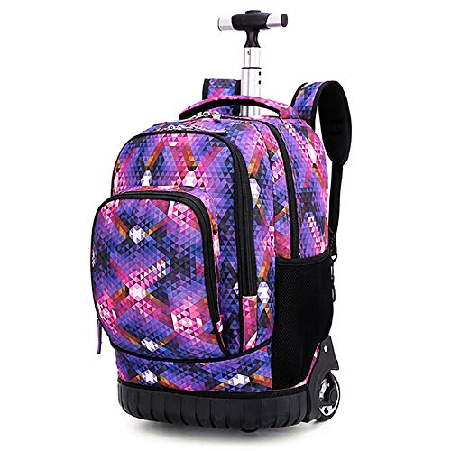 YIREAUD 19 Inch Rolling Backpack Multifunctional Rolling School Book Pack Travel Book Bags Laptop Backpack for School Students Books and Adults Travelling