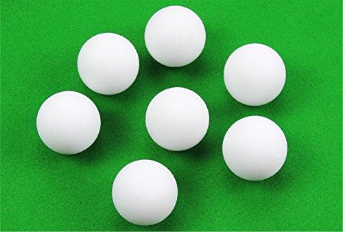 3 X 36 MM Éraflé Blanc solide de football de table Balles en caoutchouc avec revêtement de prise en main.