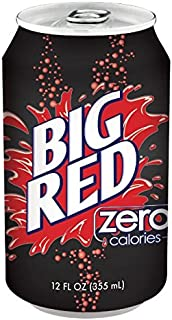 Big Red Zero Soda, 12 Ounce (12 Cans)
