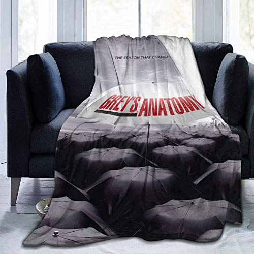 Super-Soft Flannel Blanket Greys Anatomy Lightweight 3D Printing Throw Blanket Office Home Decor for Bed Couch Chair Sofa Travel All Season