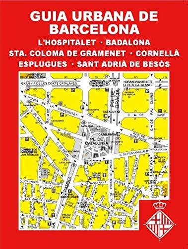 GUIA URBANA DE BARCELONA, L'HOSPITALET DE LL., BADALONA, STA. COLOMA DE GRAMENET, CORNELLA, ESPLUGUES, ST. ADRIA DE BESOS: Indice de Municipios, ... QR Ayuntamientos y transporte publico, etc